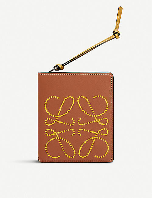 LOEWE Anagram-embroidered zipped leather purse