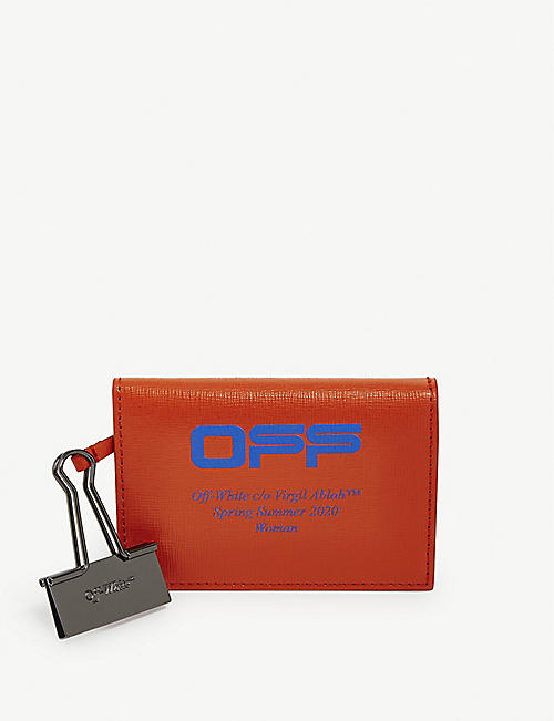 OFF-WHITE C/O VIRGIL ABLOH Binder clip leather card holder