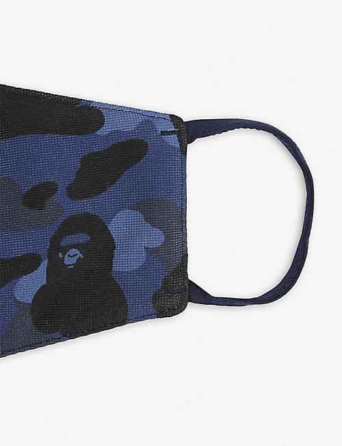 A BATHING APE Camouflage-print mask