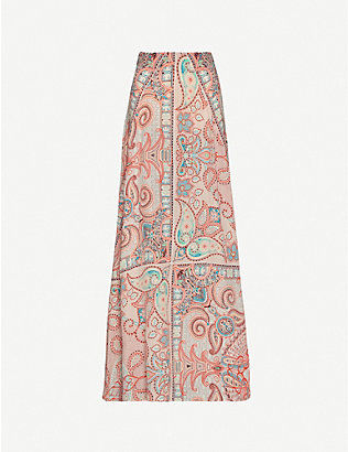 ETRO: Gonna Ibisco silk maxi skirt