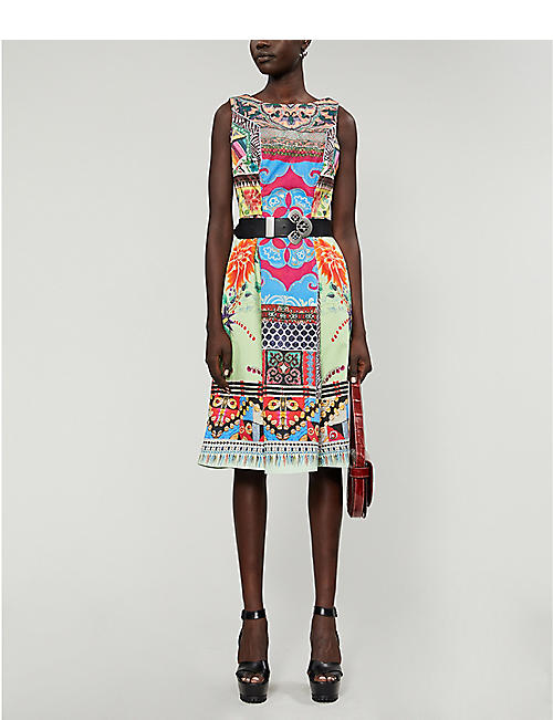 ETRO Abito Ibisco printed midi dress