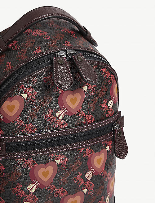 COACH 1942 heart and logo leather backpack