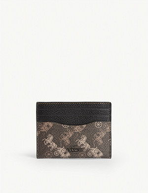 COACH Horse and carriage print cardholder