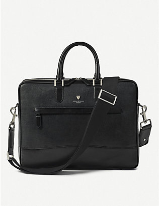ASPINAL OF LONDON: Mount Street leather folio briefcase