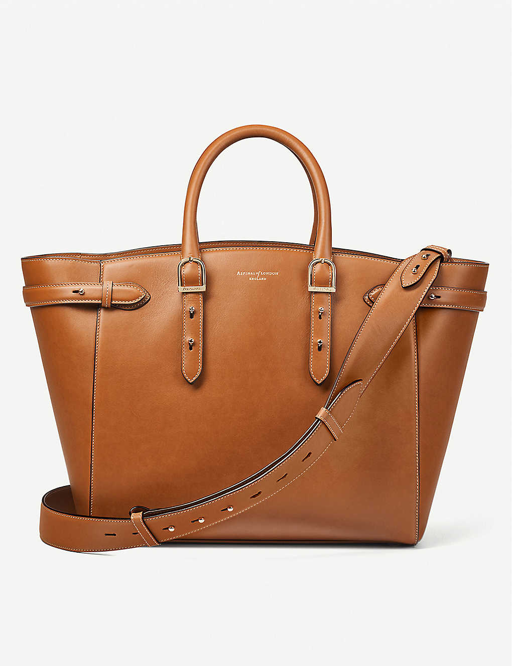 ASPINAL OF LONDON: Marylebone leather tote bag