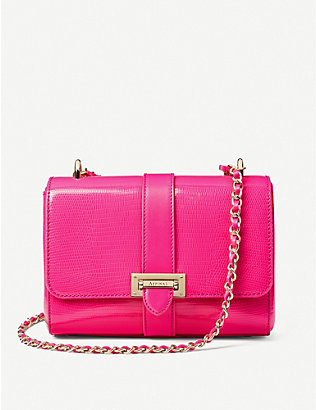 ASPINAL OF LONDON: Lottie leather shoulder bag