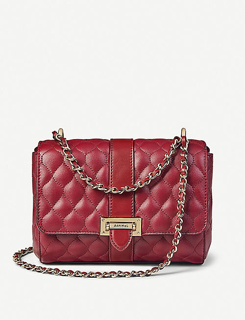 ASPINAL OF LONDON: Lottie quilted leather shoulder bag