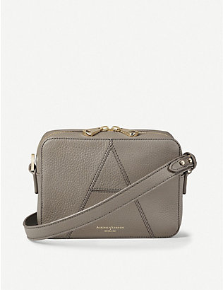 ASPINAL OF LONDON: Camera leather cross-body bag
