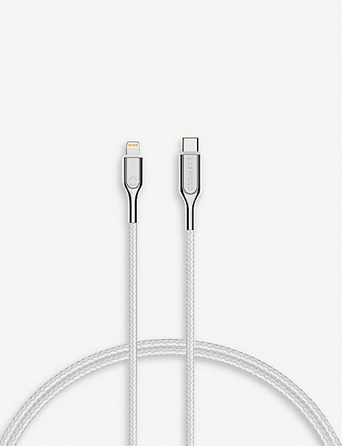 CYGNETT Lightning to USB-C braided charging cable 2m