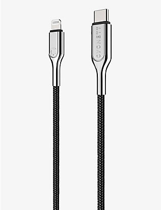 CYGNETT: Lightning to USB-C braided charging cable 10cm