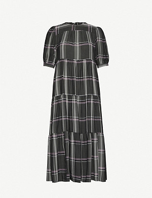 TOPSHOP Chuckon tiered crepe midi dress