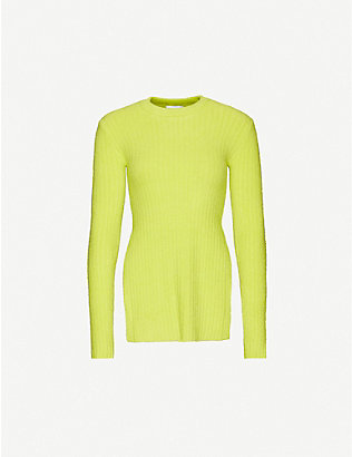TOPSHOP: Split-side relaxed-fit chenille jumper