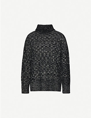 TOPSHOP: Boutique funnel neck woven jumper