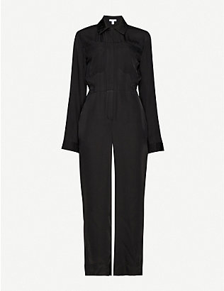 TOPSHOP: Boutique wide-leg crepe jumpsuit