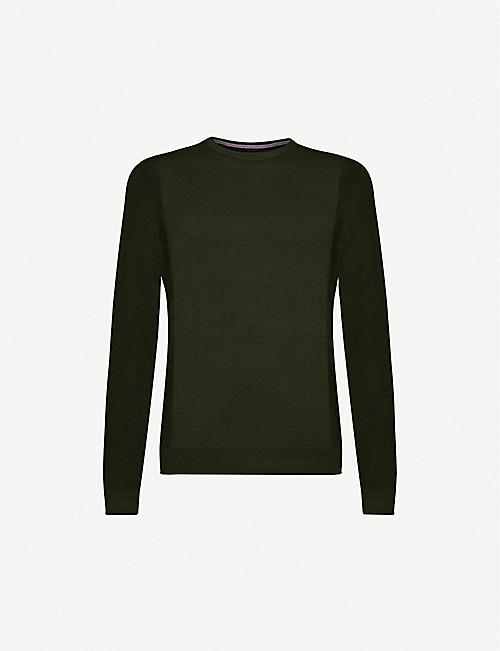 TED BAKER: Textured knit crewneck jumper