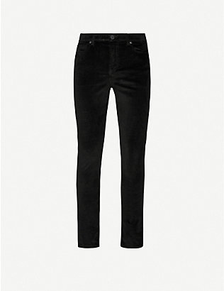 MONFRERE: Brando slim-fit cotton-blend velour trousers