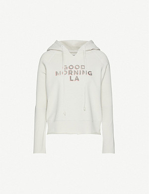 NILI LOTAN Good Morning LA cotton-jersey hoody