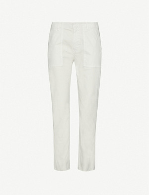 NILI LOTAN Jenna straight mid-rise cotton-twill trousers
