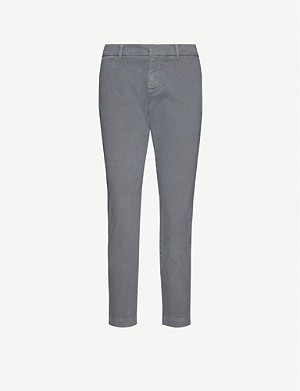 NILI LOTAN Tel Aviv straight-leg high-rise stretch-cotton trousers