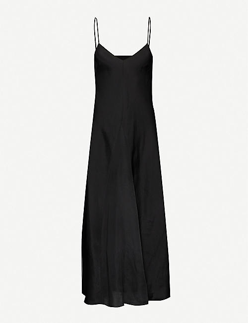 SONG FOR THE MUTE V-neck sleeveless crepe midi dress