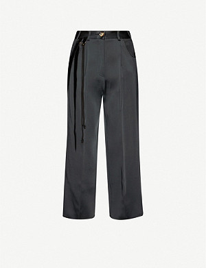 SONG FOR THE MUTE High-rise wool-blend wide-leg trousers