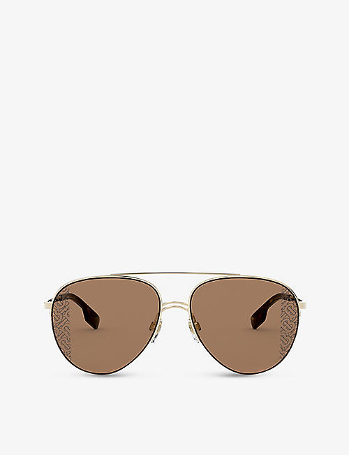 BURBERRY: BE3113 pilot-frame sunglasses