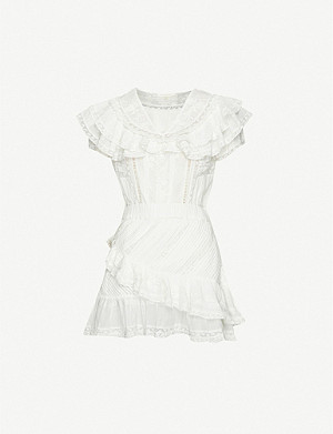LOVESHACKFANCY Bonita ruffle-trimmed cotton mini dress
