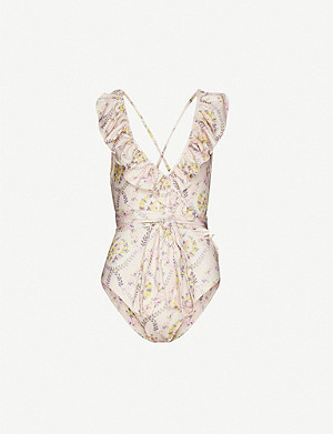 LOVESHACKFANCY Jasper floral-print swimsuit