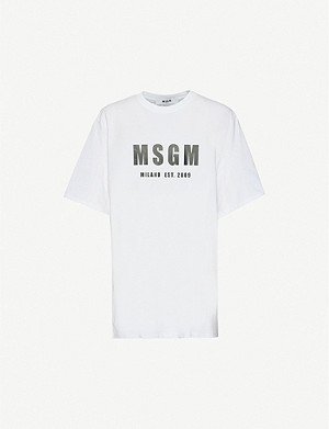 MSGM Logo cotton t-shirt