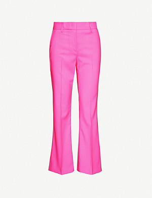 MSGM Cropped wide-leg wool trousers