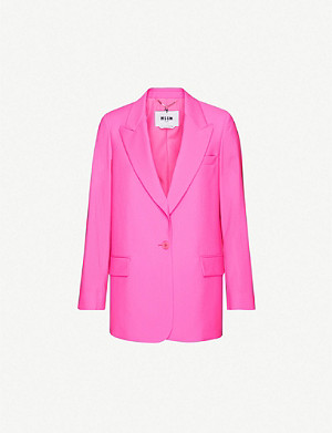 MSGM Single-breasted wool blazer