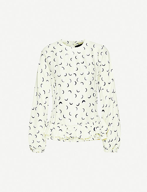 PAPER LONDON Gardinia graphic-print frilled woven top