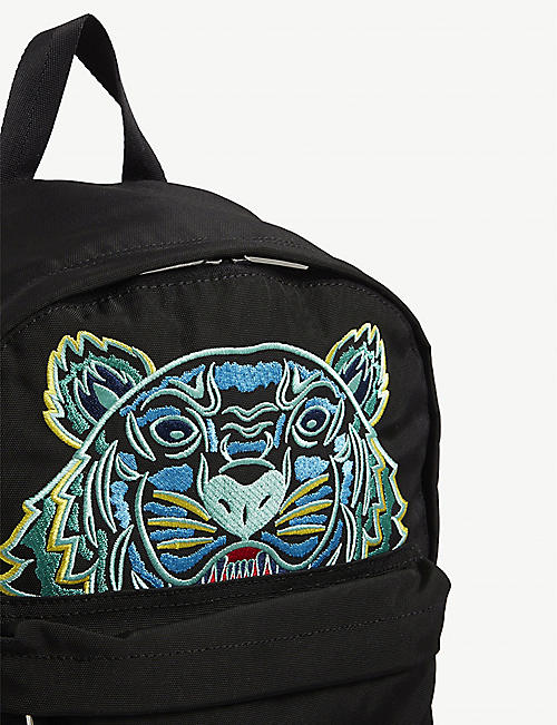 KENZO Tiger embroidered logo nylon backpack