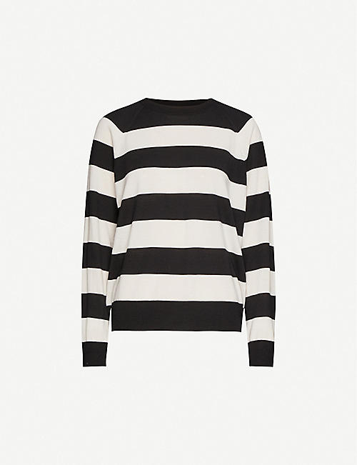 DRIES VAN NOTEN Striped-pattern merino wool jumper