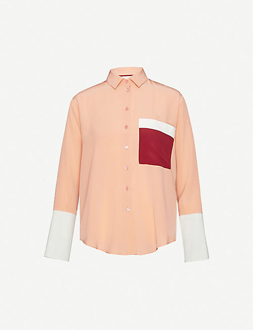 CHINTI AND PARKER: Spread-collar loose-fit silk shirt