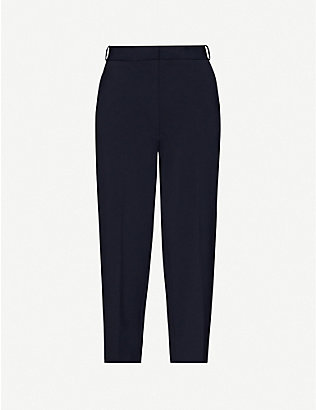CHINTI AND PARKER: Cropped straight high-rise woven trousers