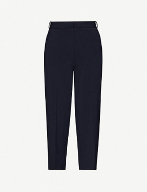CHINTI AND PARKER Cropped straight high-rise woven trousers
