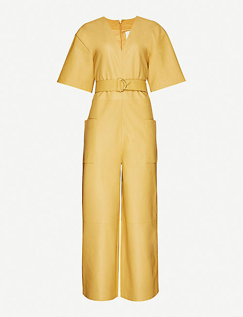 REMAIN BIRGER CHRISTENSEN: Dalmine wide-leg leather jumpsuit