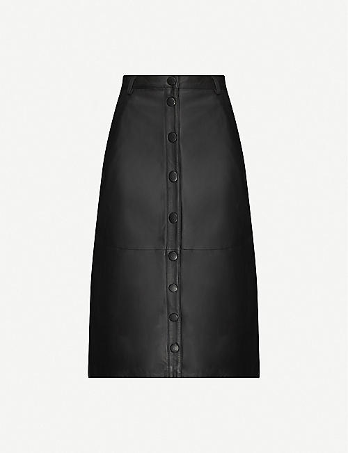 REMAIN BIRGER CHRISTENSEN: Bellis high-waist leather skirt