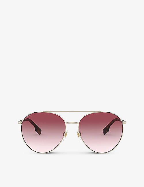 BURBERRY: BE3115 pilot-frame sunglasses