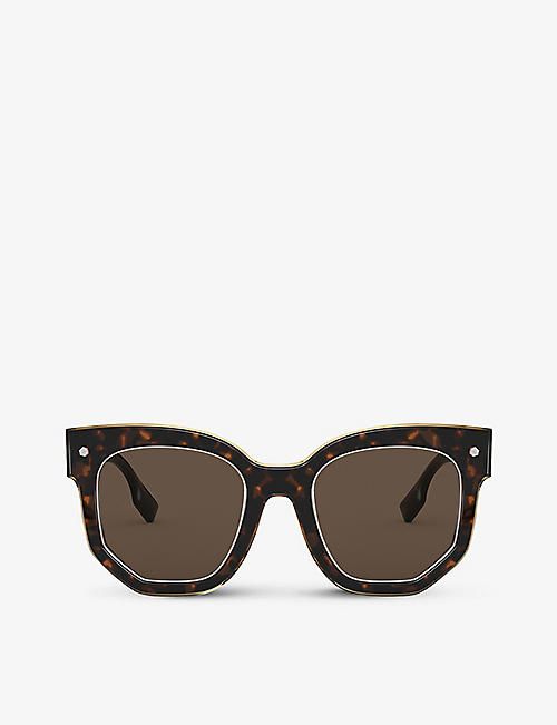 BURBERRY: BE4307 butterfly-frame sunglasses