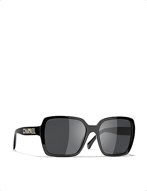 CHANEL CH5408 acetate square-frame sunglasses
