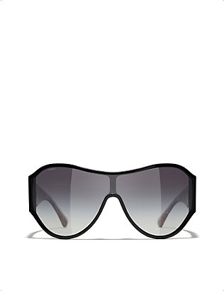 CHANEL: CH5426 acetate shield-frame sunglasses