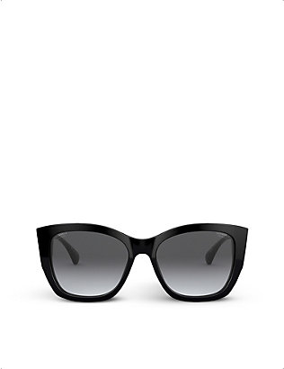 CHANEL: CH5429 butterfly-frame polarised acetate sunglasses