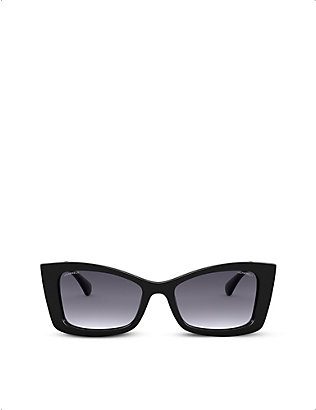 CHANEL: CH5430 rectangular-frame acetate sunglasses