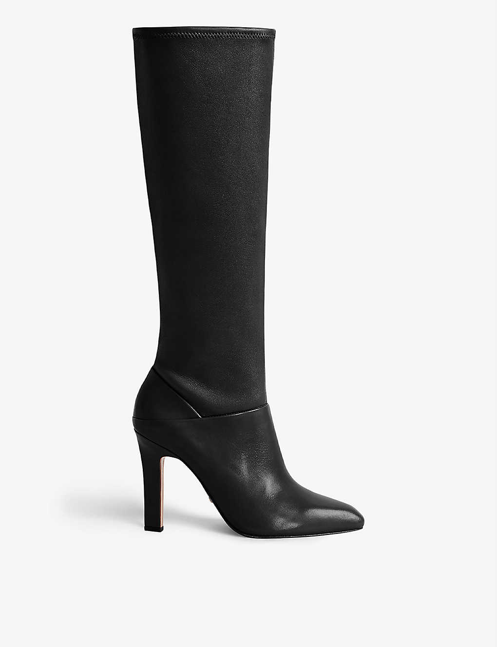 REISS: Cressida leather knee high boots