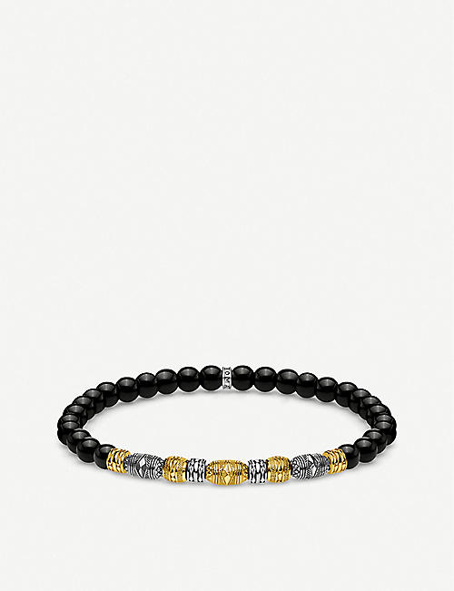 THOMAS SABO: Lucky Charms 18ct gold-plated and sterling silver beaded bracelet