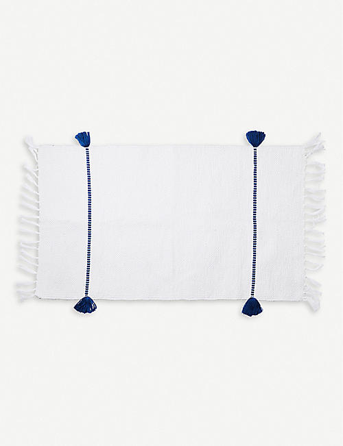 THE CONRAN SHOP: Abanjá Bakkali cord cotton bath mat 48cm x 89cm