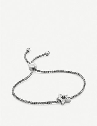 MONICA VINADER: Star 18ct sterling silver and diamond friendship bracelet
