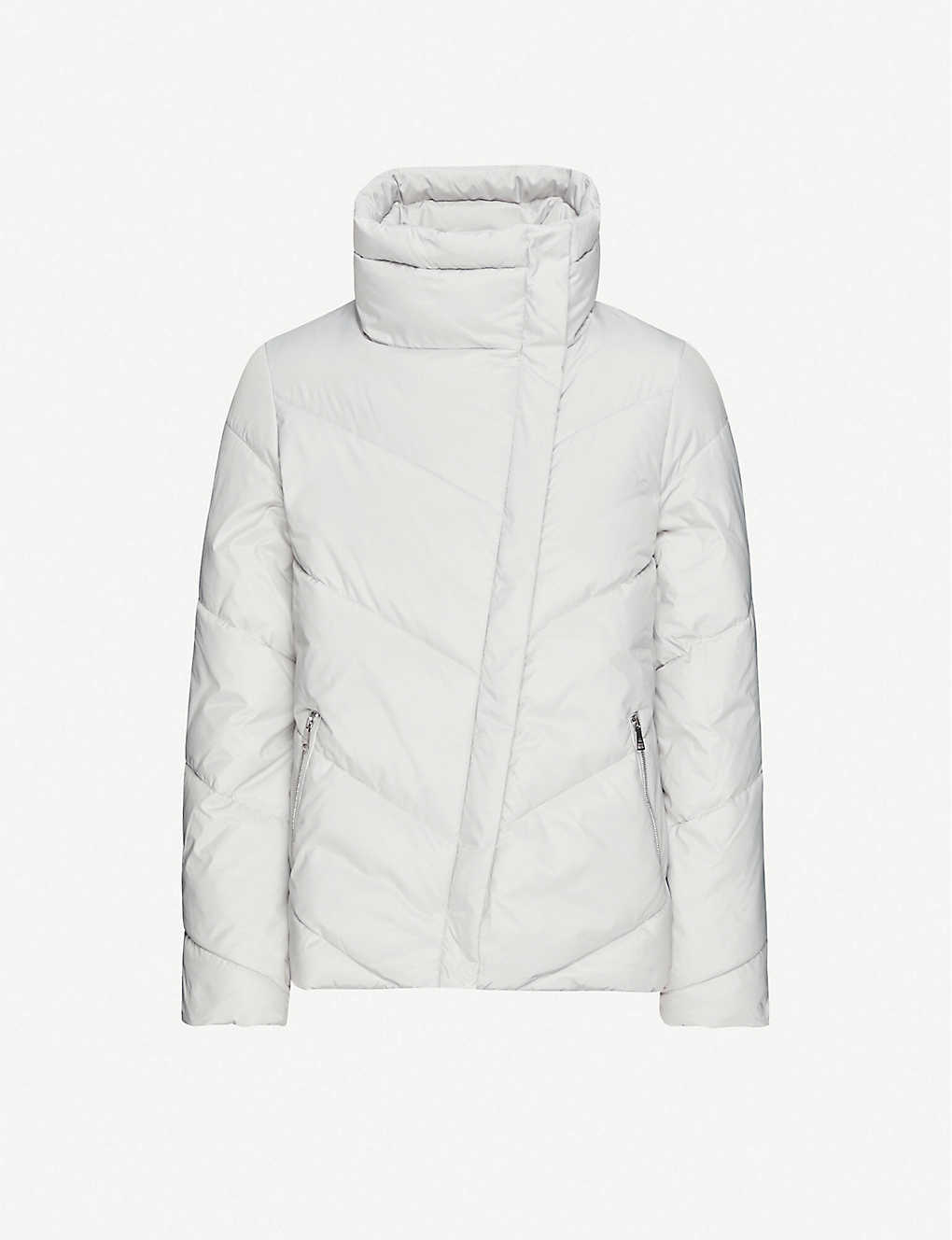 TED BAKER: Funnel-neck quilted shell jacket